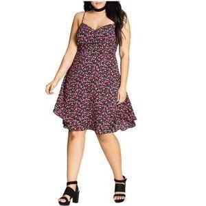 NWT City Chic Floral Print Knee Length Dress